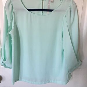 LC Lauren Conrad Mint Blouse